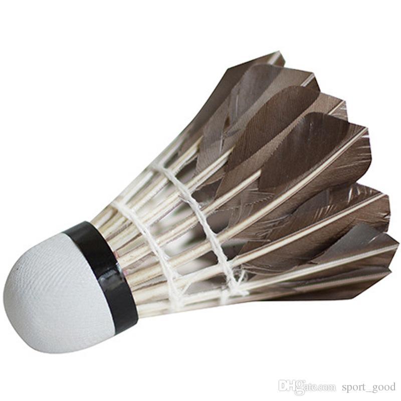 Novas badminton petecas bolas de jogo preto badminton 12 peças 5 dúzias de treino bola de badminton para venda