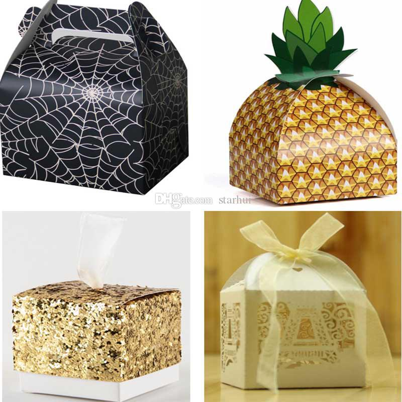 Xmas Candy Gift Wraps Bags Pineapple Halloween Spider Sequin Glitter Wedding Party Packaging Paper Boxes Bags Table Decoration WX9 804 Customised Wrapping ...  sc 1 st  DHgate.com & Xmas Candy Gift Wraps Bags Pineapple Halloween Spider Sequin Glitter ...