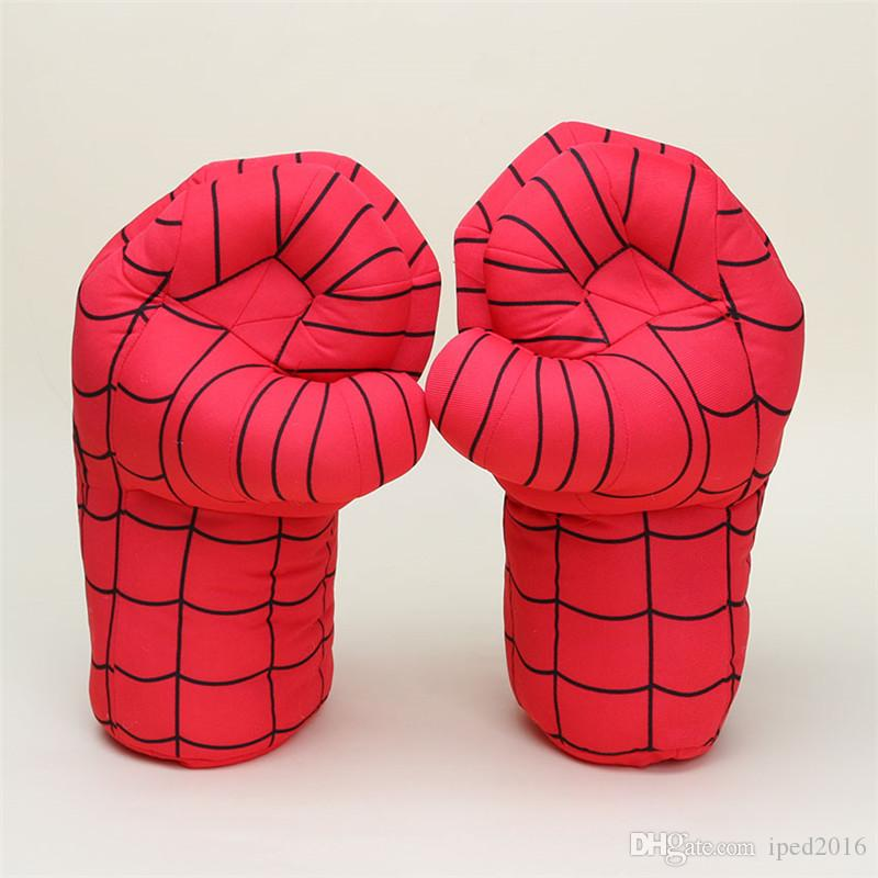 10inch Hot sale Gloves Incredible Hulk Smash Hands Spider Man Plush Gloves Performing Props figure Toys