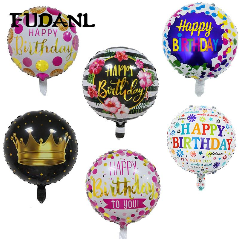 18inch Happy Birthday Balloon Aluminium Foil Balloons Helium Mylar Balls For KidS Party Decoration Toys Globos Minion Deliver