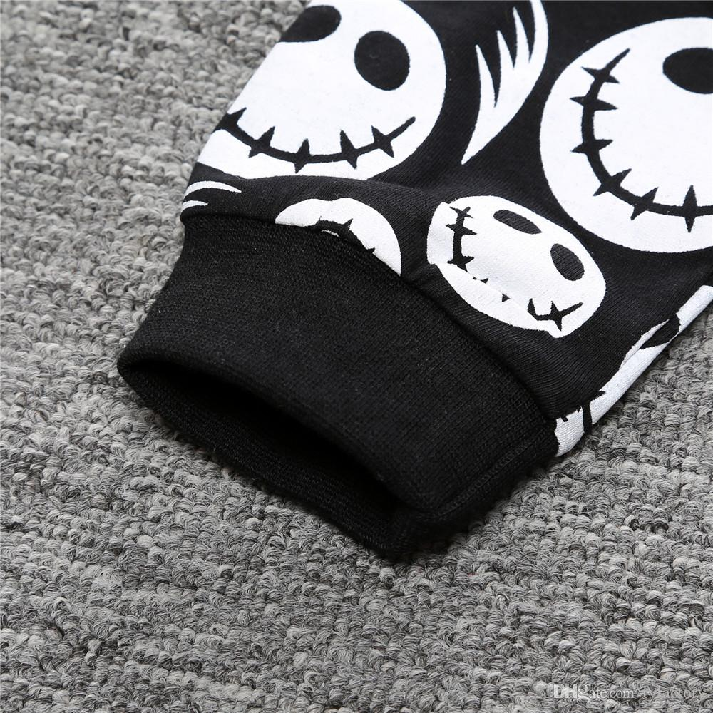 Newborn Baby Boys Clothing Toddler T-shirt+Pants set Skull Heads Outfit Infant Boutique Casual Clothes Kids Costume Children Pajamas