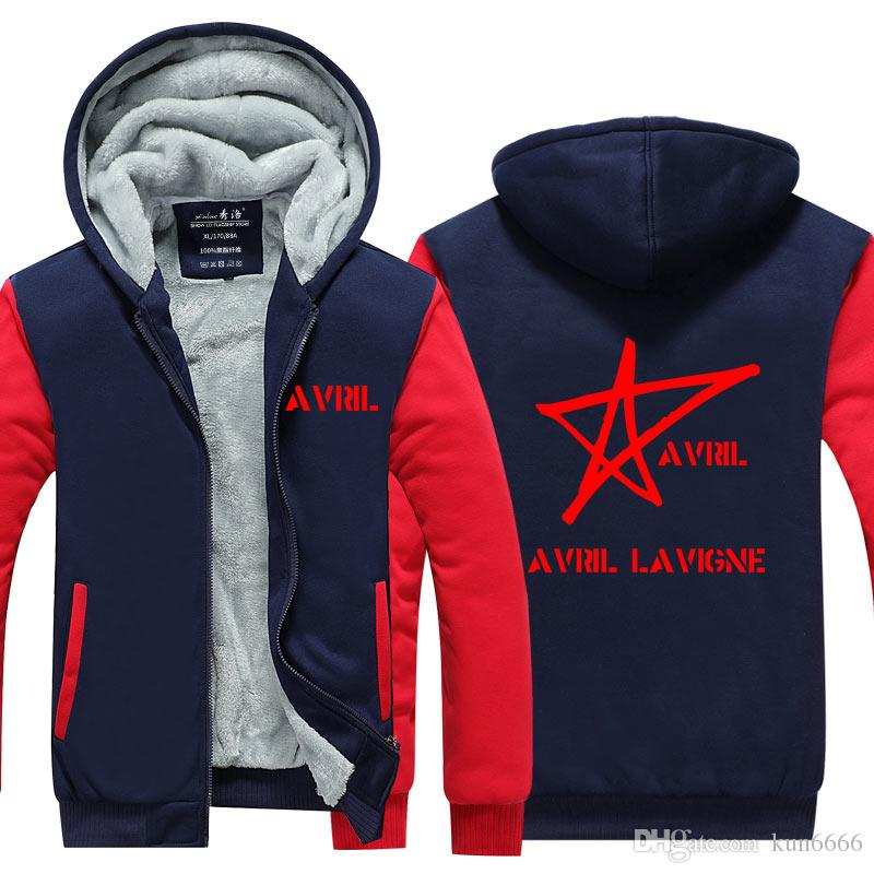 978a3f83a53 2018 Avril Lavigne Hoodie Fashion Popular Men Cardigan Coat ...