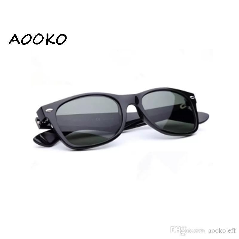 negozio online 55ff0 54615 AOOKOjeff miglior protezione UV400 Plancia nera Occhiali da sole in vetro  Lente G15 Verde Occhiali da sole occhiali da sole da spiaggia Vetro  Occhiali ...