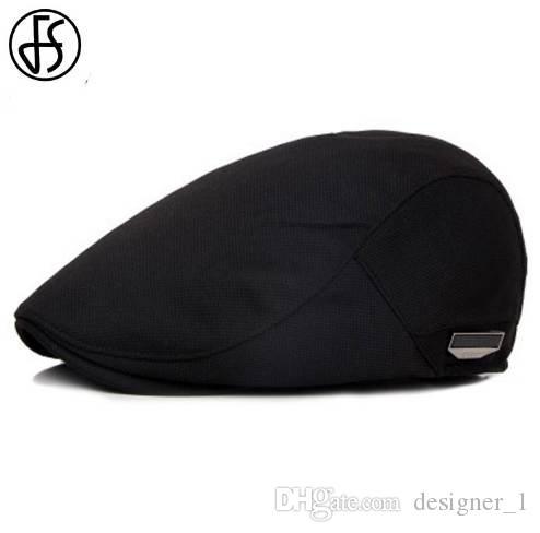 Compre FS Unisex Gorra De Boina De Alta Calidad Sombrero Respirable De Sol  De Verano Para Hombres Mujeres Gorras Planas De Moda Sombreros Negros De  Cabbie A ... 5b956c6a0b1
