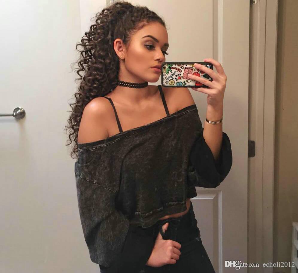 100% pelo humano con cordón cola de caballo afro rizado pelo rizado cabello humano real extensión de cola de caballo para mujeres negras 140 g negro azabache