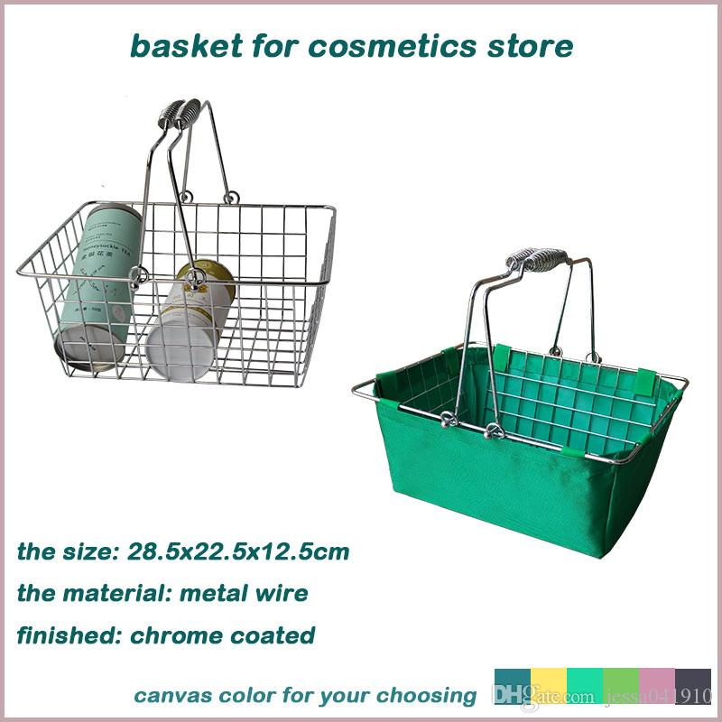 Hanging Wire Mesh Storage Basket With Oxford