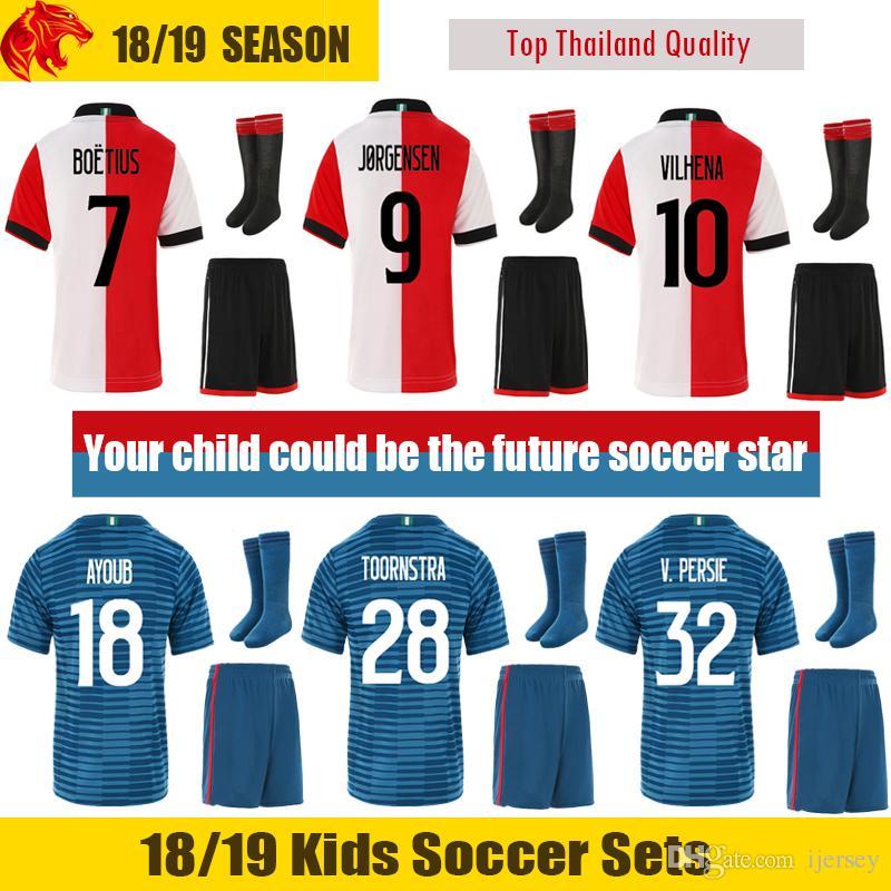Compre 18 19 Feyenoord Niños Kit 2018 2019 Feyenoord V.PERSIE Niños  Uniformes De Fútbol VENTE BERGHUIS Feyenoord JORGENSEN Niños Juegos De  Fútbol VILHENA ... 064c5aa70e747