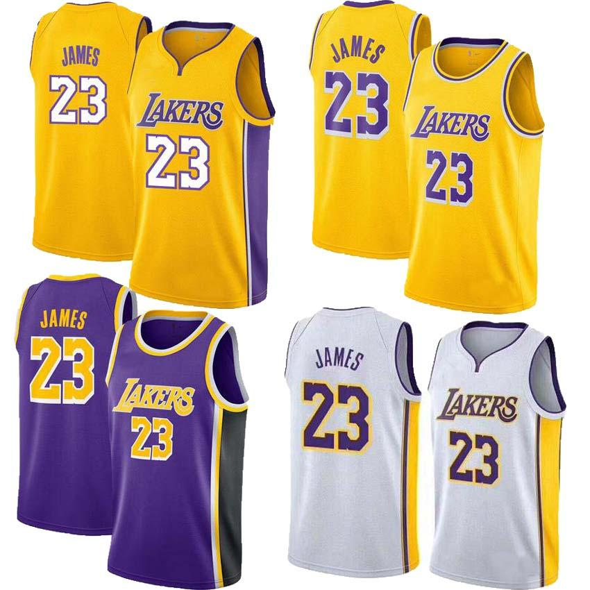 6d13c88c5ff ... wholesale 2018 2018 2019 new season men 23 lebron james jersey los  angeles lakers 77 luka