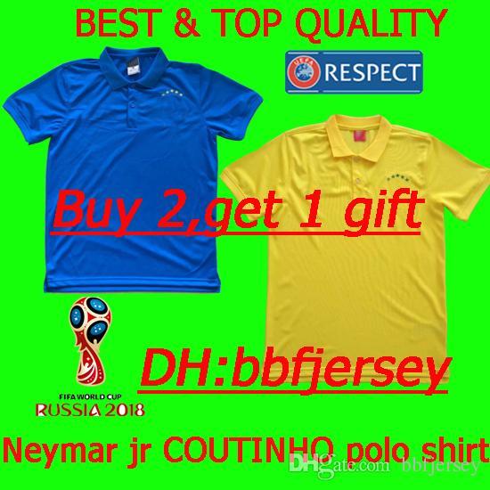Thailand 2018 Polo Shirt Jersey National Brazil Polo JESUS COUTINHO ... 55aeb649e