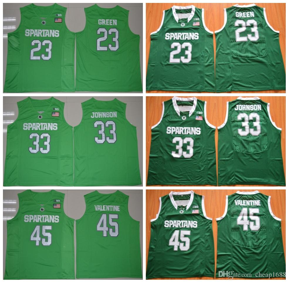 14ecaea0abd ... code for 2018 msu michigan state spartans 23 draymond green 22 miles  bridges 33 earvin uk michigan state spartans nike replica college hockey  jersey ...