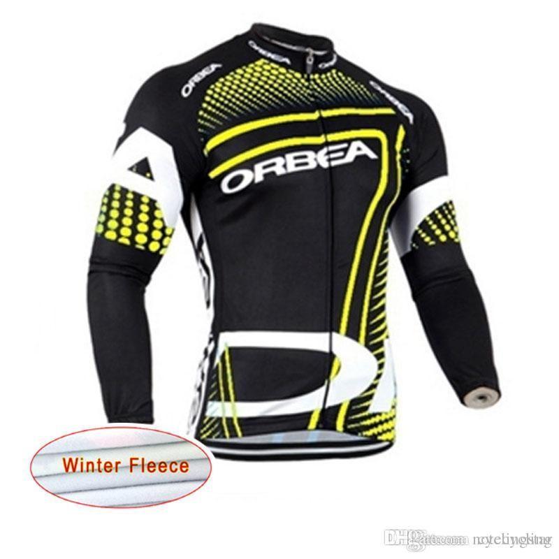 New ORBEA Cycling Jerseys Long Sleeve Bike Shirt Men Winter Thermal ... c820bd319