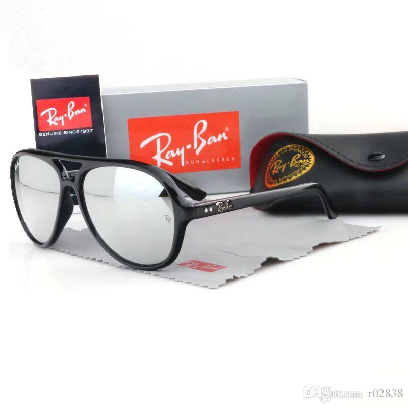 Compre Moda Cool Óculos De Sol Cateye Homens Mulheres Marcas 52mm Óculos De  Sol Marca Designer De Espelho Gafas De Sol Óculos De Senhoras Com Casos  Tomada ... 48a4b0833d