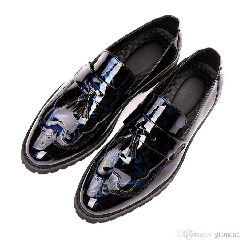 53d33152ff Compre Hombre Zapatos Primavera Otoño Clásico Calzado De Negocios Negro  Azul Calzado De Oficina Casual Cómodo Zapatos Elegantes Hombres A  37.48  Del Guandan ...