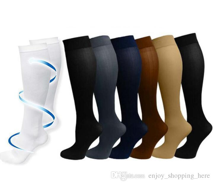 6dfb69d83 2019 Compression Socks Men Women Knee High Graduated Best Medical Nursing  Travel Flight Socks Running Fitness Sports Stocking DHL From  Enjoy shopping here