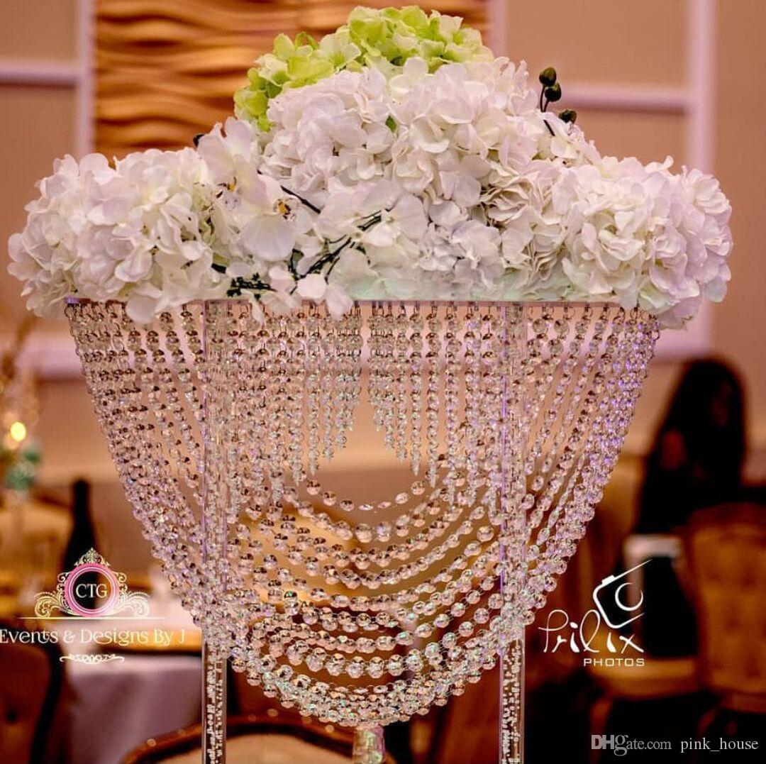 New hot sell oval shape crystal acrylic beaded wedding centerpieces new hot sell oval shape crystal acrylic beaded wedding centerpieces flower stand table decor for wedding event party decoration wedding centerpiece crystal izmirmasajfo