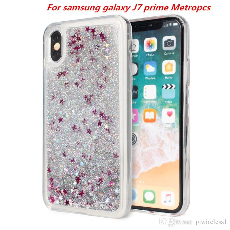 new arrival 74926 4a0c9 Quicksand Case For samsung galaxy J7 prime Metropcs J3 prime Metropcs For  LG Stylo 3 plus Glitter liquid tpu phone Cover C