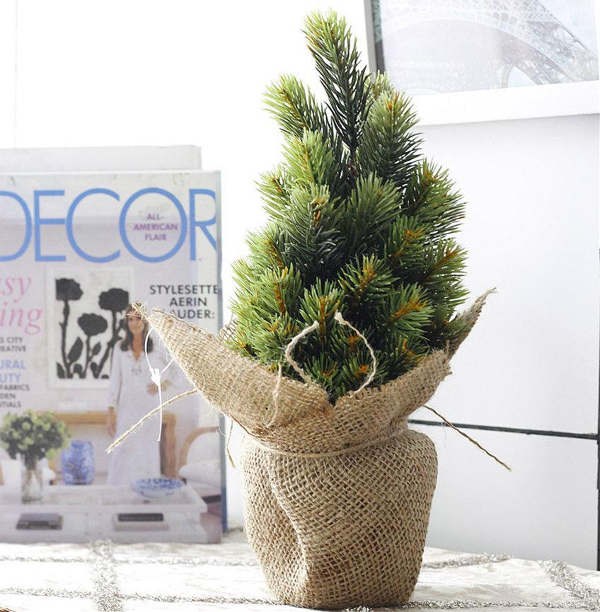 2018 Christmas Vase Tree Set Halloween Artificial Small Pine Tree