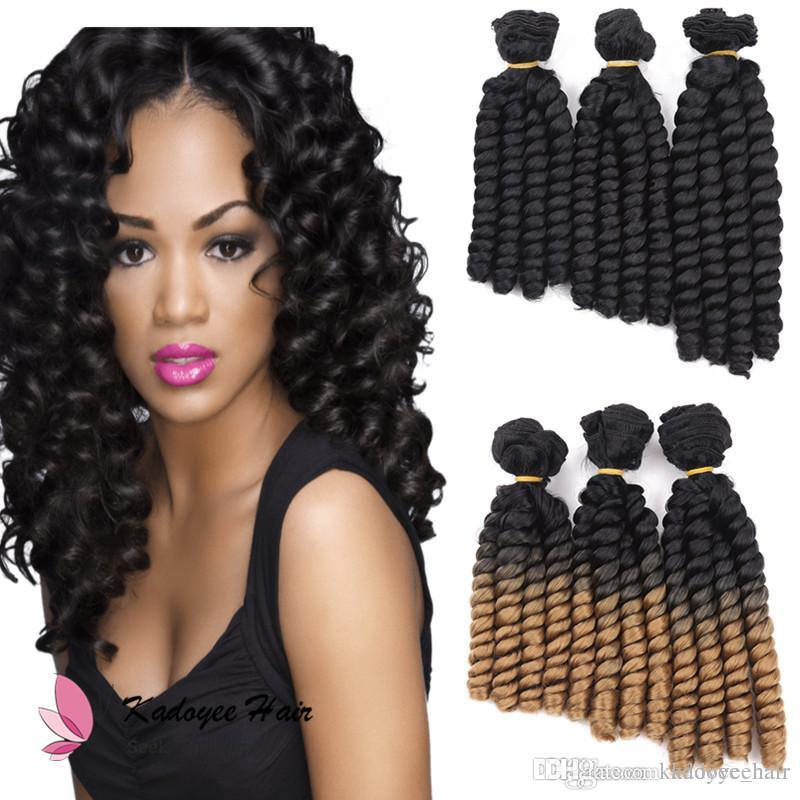Cheap 3bundles Pack 8 10inch Bouncy Curly Hair Heat Resistant