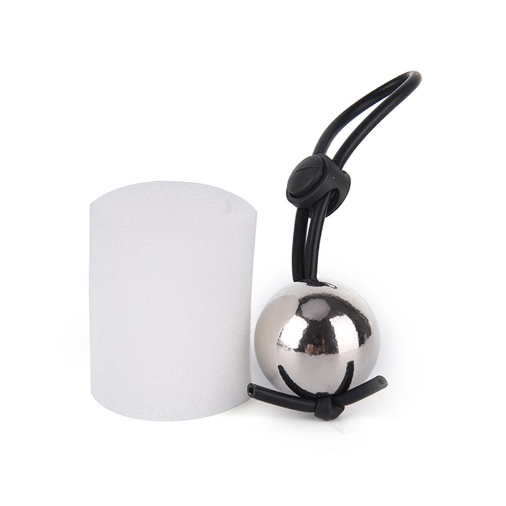 Um Silicone Anéis Do Pénis Com Uma Bola de Metal Penis Alargamento Peso Cabide Maca Extensor Stretche Favor de Partido