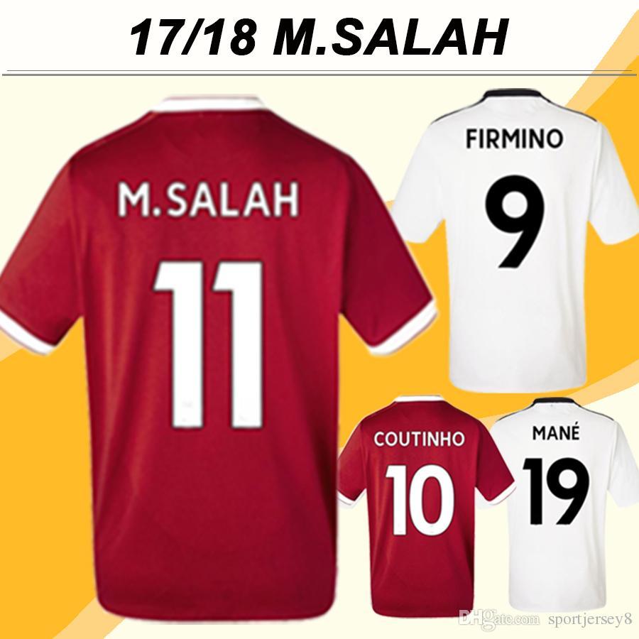 2017 18 M.SALAH FIRMINO Soccer Jerseys MANE LALLANA MATIP