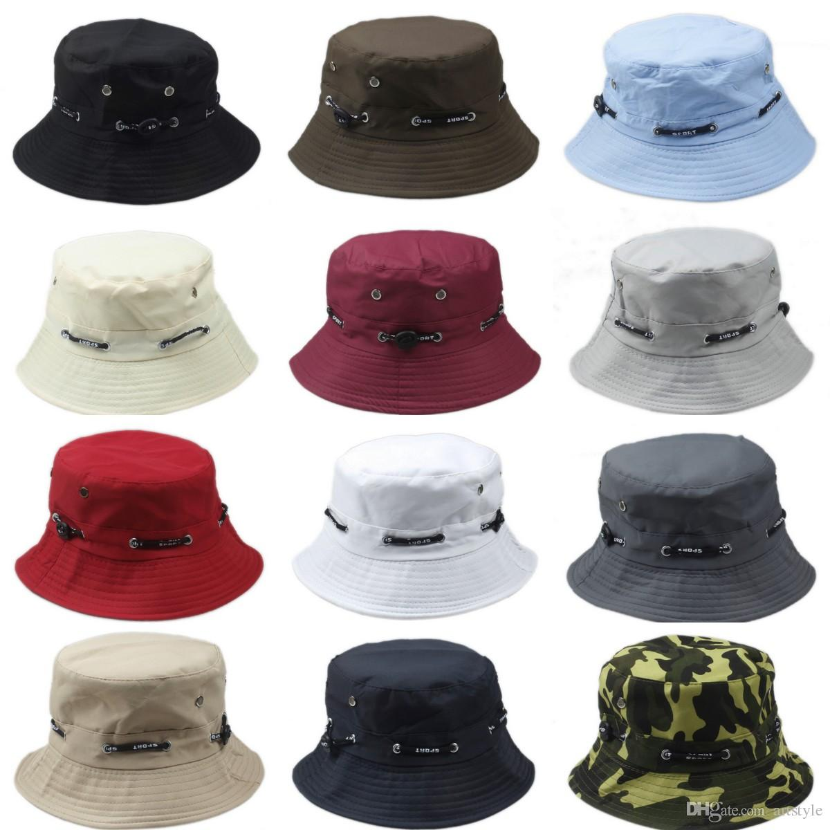 62876a7ca70 2019 New Fashion Men Women Bucket Hat Boonie Flat Hunting Fishing Outdoor  Summer Cap Unisex 100% Cotton From Artstyle