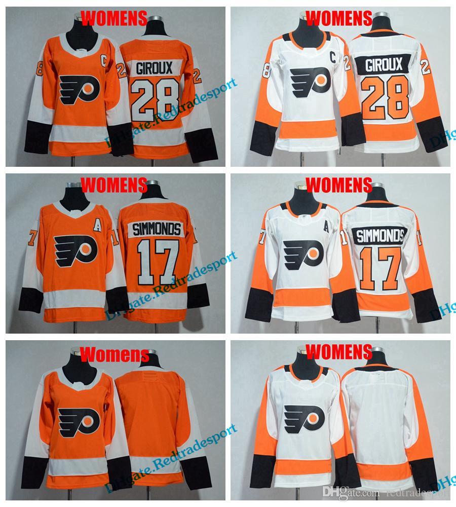 2019 2018 Womens Philadelphia Flyers Hockey Jerseys Ladies Girls 28 Claude  Giroux 17 Wayne Simmonds Stitched Jersey Cheap C PATCH From Redtradesport 3509abe2c