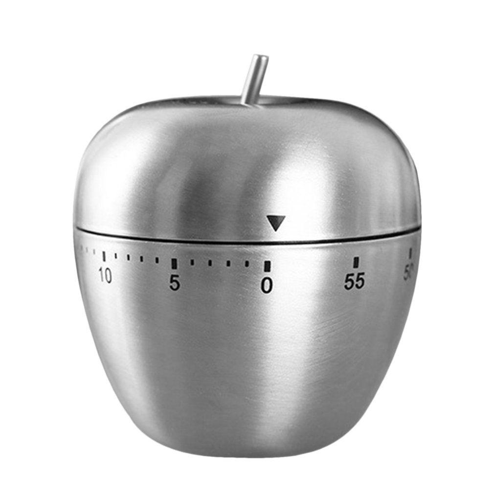 Timer da cucina in acciaio inox A forma di mela 60 minuti di sveglia  multifunzione strumento di promemoria tempo meccanico