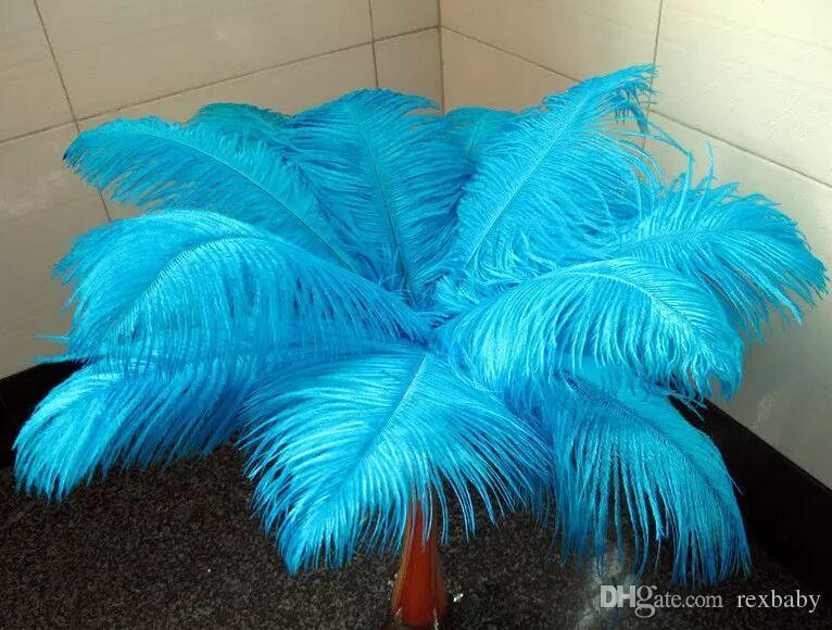 Alta qualidade bela pena de avestruz 40-45 cm / 16-18 polegadas U escolher Cor decoração central Do Casamento