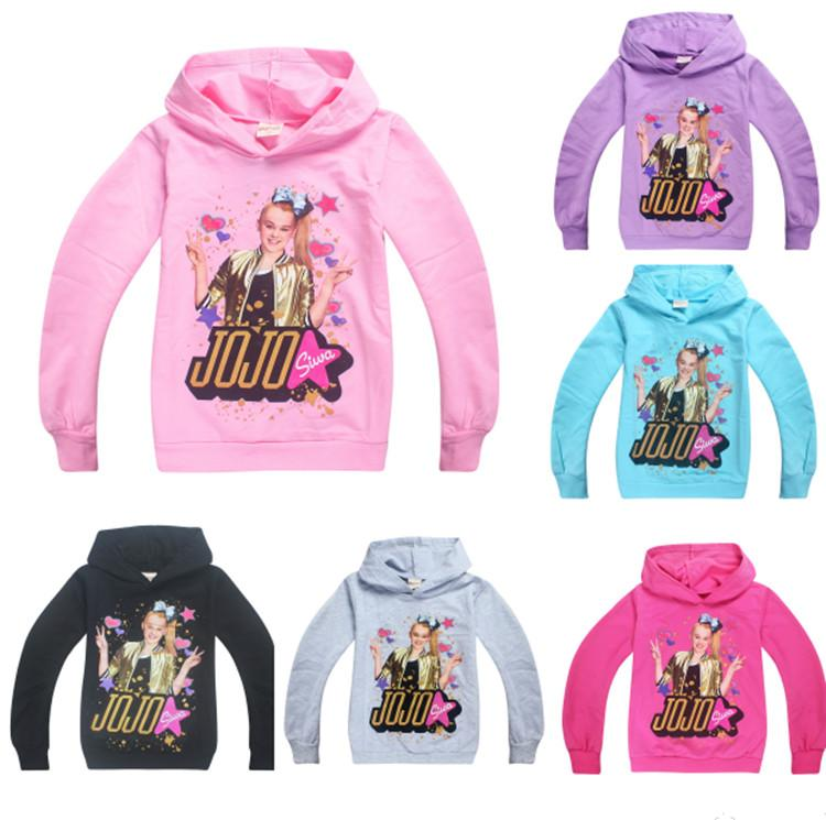 480fa9ed077d9 2019 NEW Jojo Siwa Hoodie Kids Girl Pullover T Shirt Spring Autumn  Sweatshort Hoodie For Children Fashion Sweater T Shirts Tracksuit Top From  Sweet goods