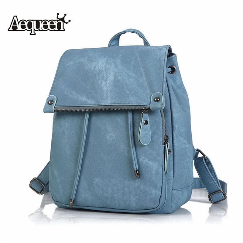 8ef8f3b083c5 Wholesale Women Leather Backpacks Female School Bag for Teenage ...