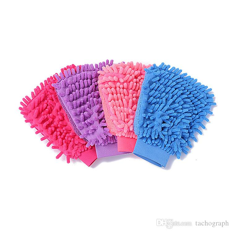 Double sided microfiber glove car gloves chenille coral velvet wash car multifunctional waterproof non injury lacquer gloves wholesale