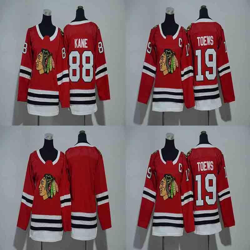 best authentic cc7ee 33101 Youth Kids 19 Jonathan Toews Jersey 2018 New Season Chicago Blackhawks 88  Patrick Kane Boys Hockey Jerseys Cheap