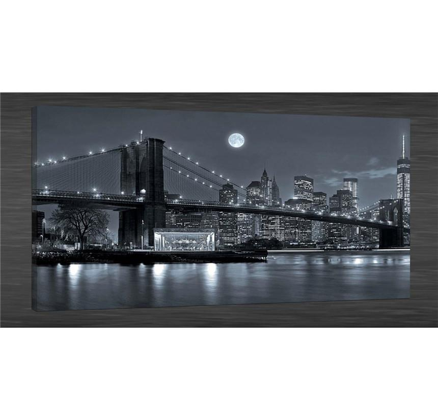 2018 New York Brooklyn Bridge,Canvas Prints Wall Art Oil Painting ...