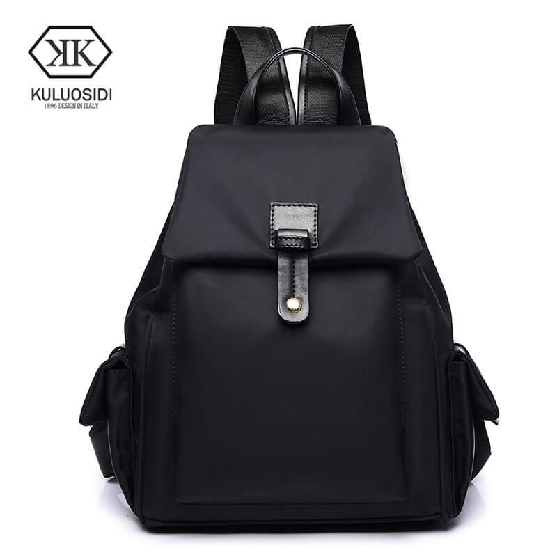 7d004d1f2478 Fashion girl school bags women leather backpack rivet student backpack high  quality causal backpack famous brands teenagers shoulder bag