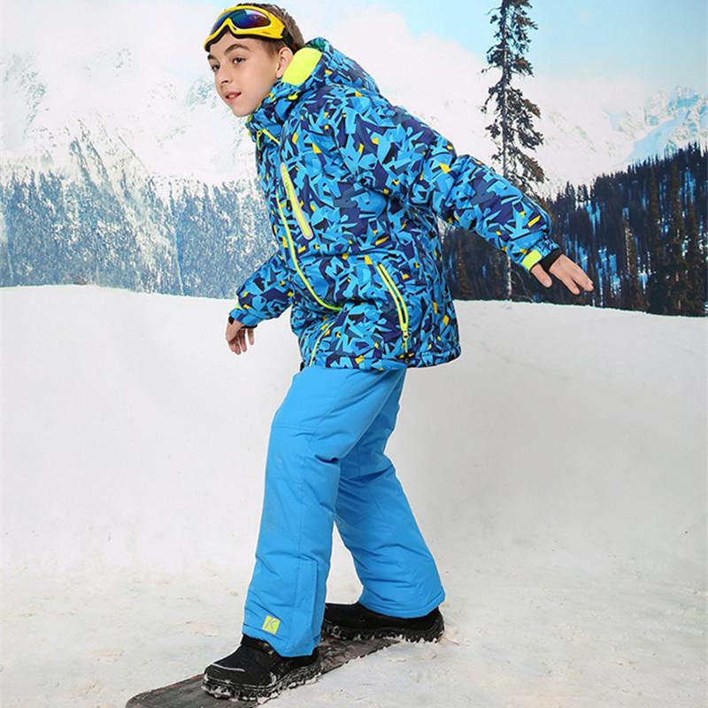 2df4cea5c7 2019 Boys Ski Suit Ski Jacket And Pants For Kids Snowboard Set Snowboard  Jacket And Trousers Winter Clothes Children Snow From Longanguo