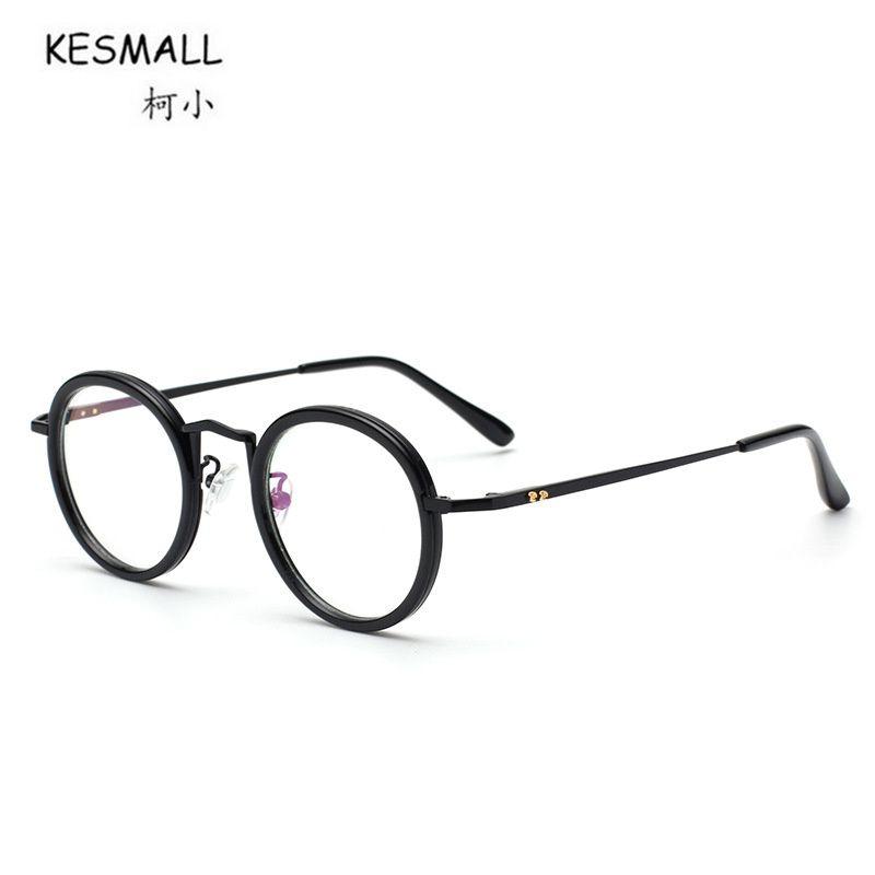2018 Kesmall New Retro Glasses Frame Men Women Optical Eyeglasses ...