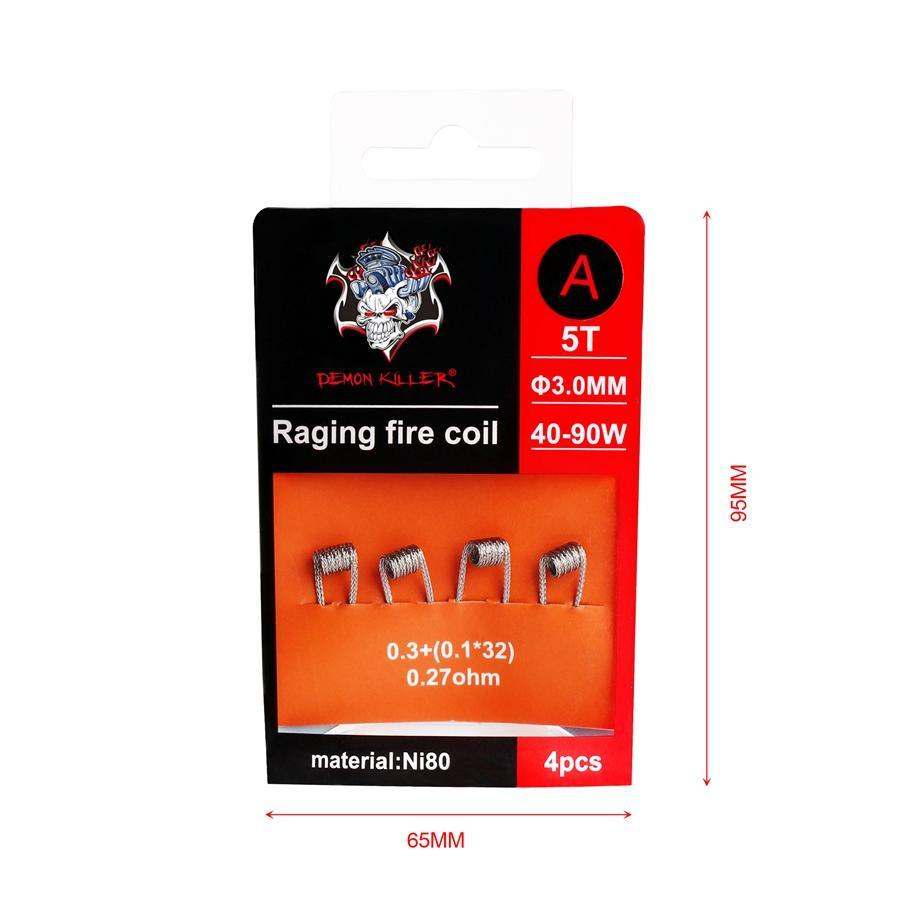 Bobine de feu faisant rage NI80 préfabriqué en fil de 80 bobines pré-construites de fil de chauffage d'enveloppe de Premade Killer pour le vape RDA RTA