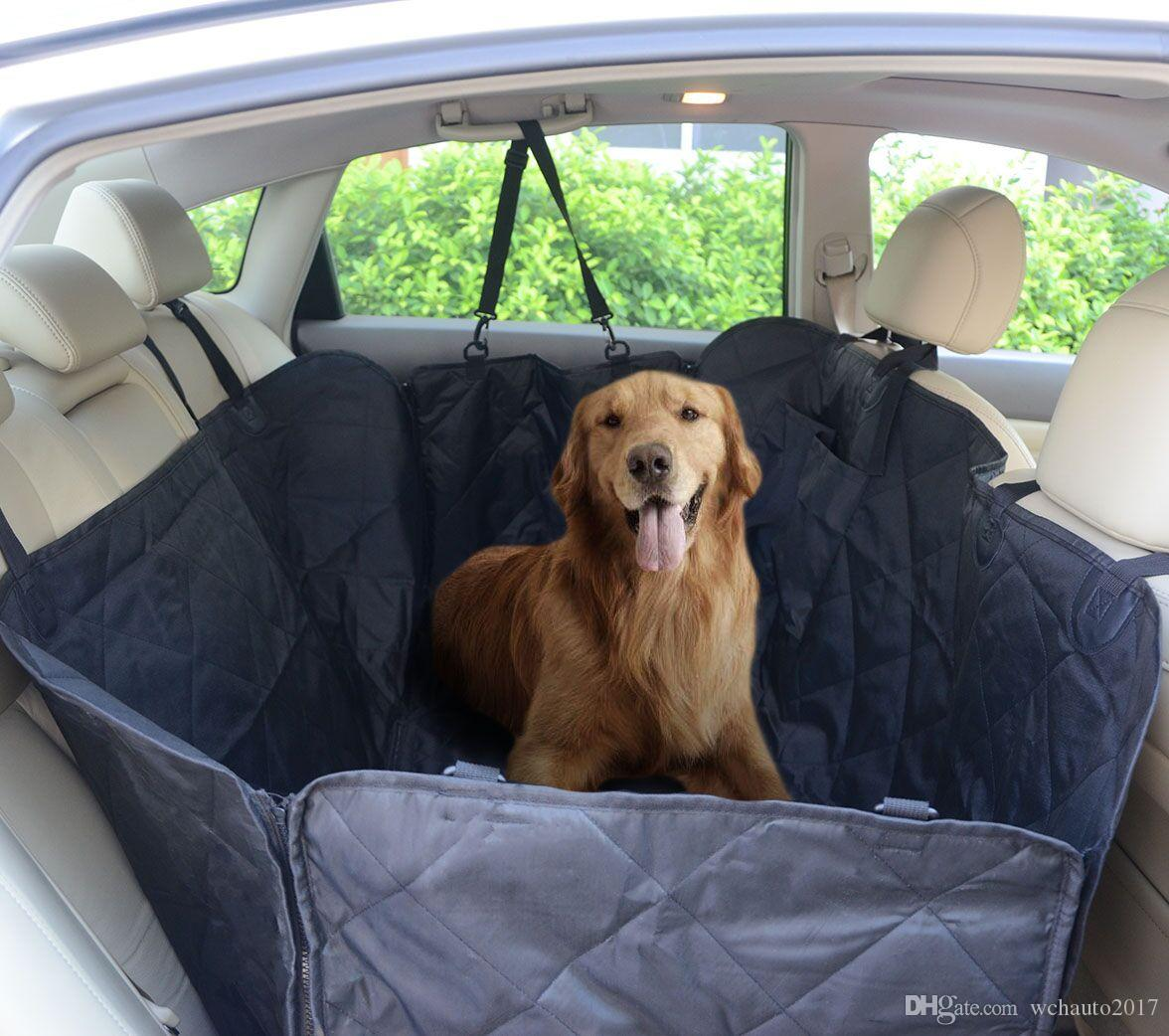 Pet Seat Cover For Large Dogs Breeds Waterproof Nonslip Scratch Proof Rear Back Car Covers Hammock Trucks SUVs Vans Black