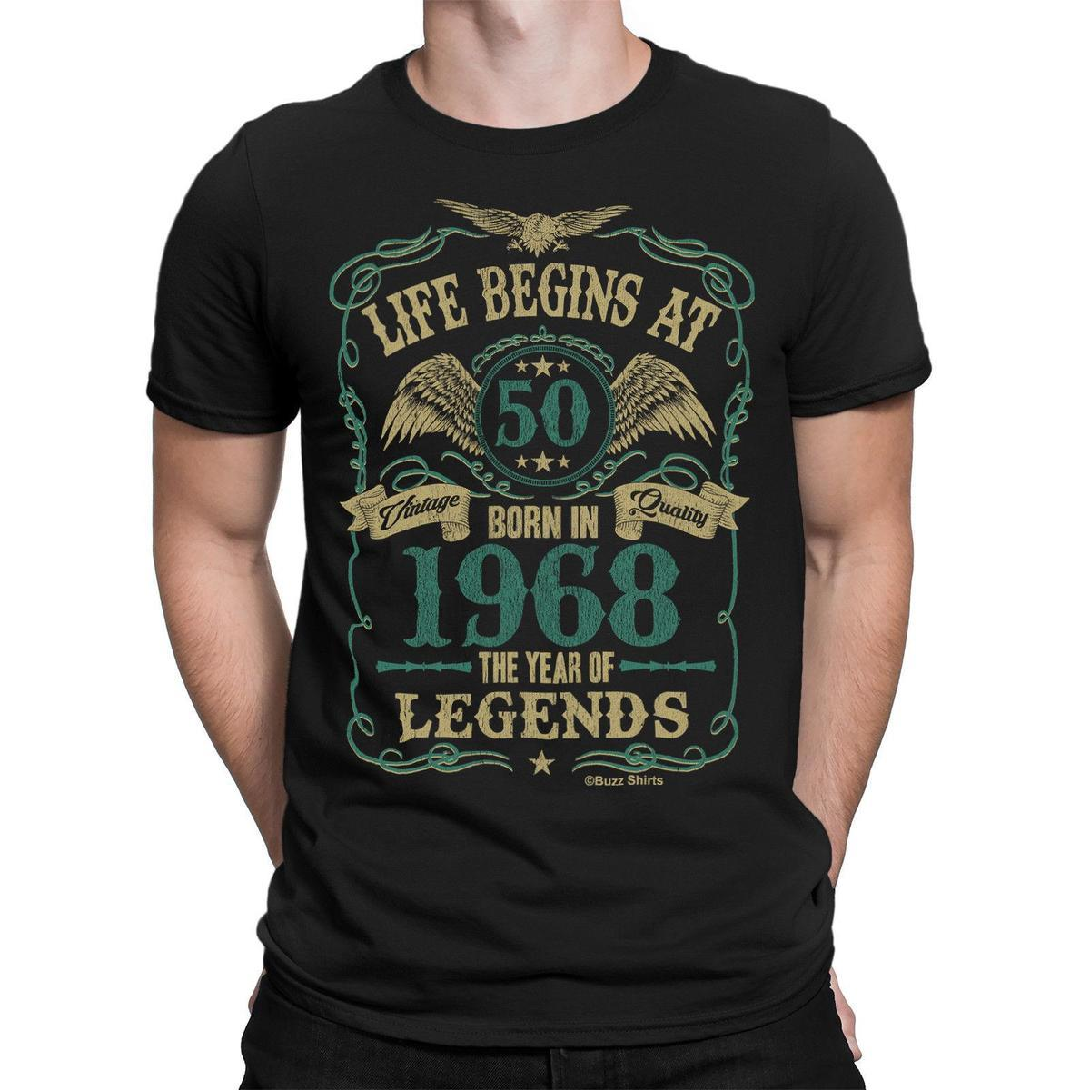 21bd9aed Life Begins At 50 Mens T Shirt BORN In 1968 Year Of Legends 50th Birthday  Gift Purchase T Shirts Silly T Shirt From Yuxin004, $13.8| DHgate.Com