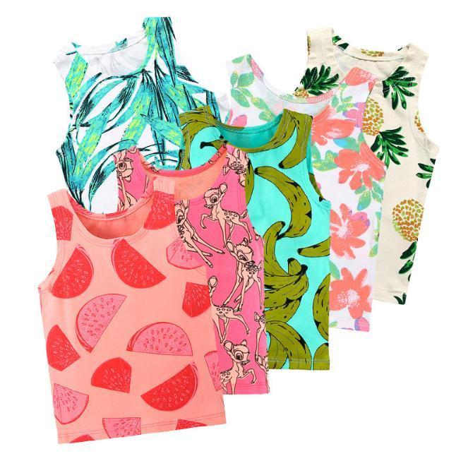 60ffb94e8675 Baby Tops Children Vest Boys Girls Summer T Shirts Sleeveless Tank ...