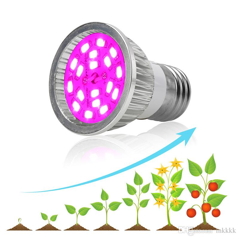 Full Spectrum 18 Led Grow light Bulb with Full Spectrum for Indoor  Plants,E27 /E14/GU10 Grow Plant Light for Hydroponic Greenhouse