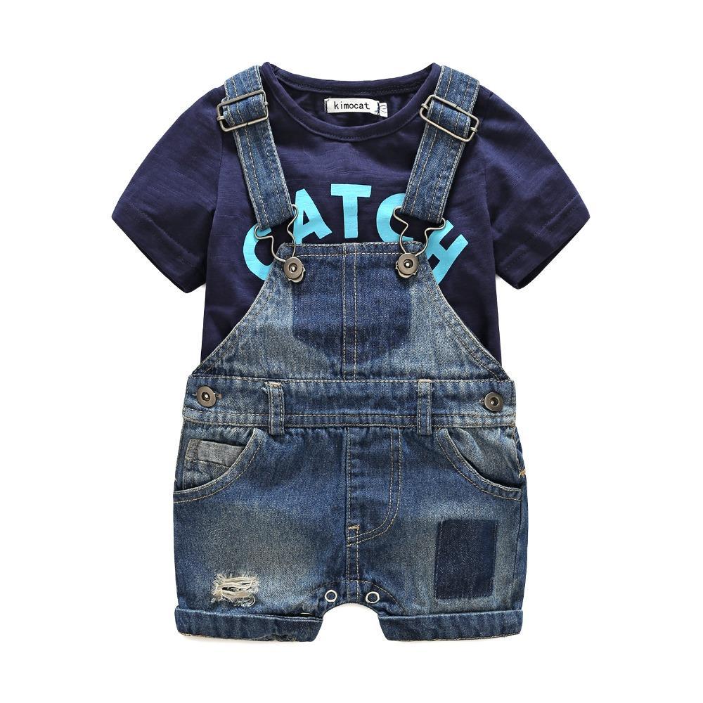 385d9b9cecbc 2019 Summer Short Sleeve Baby Boy S Clothing Sets Infant Jumpsuit ...