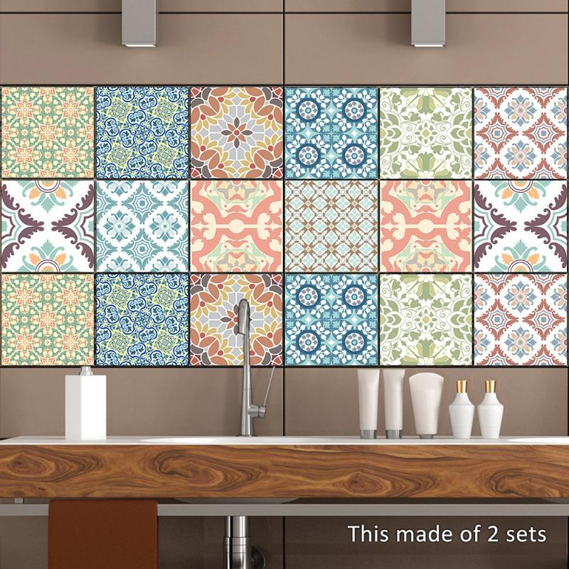 Kitchen Tile Stickers Red