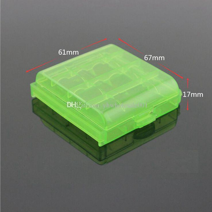 Colorful Plastic Case Holder Storage Box Cover for 14500 AA AAA Battery Box Container Bag Case Organizer Case