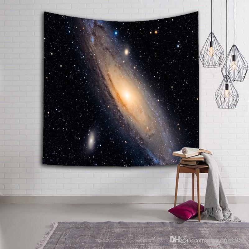 Milchstraße und Stern-Muster Strandtuch Waschbare Sonnenschutz Tapestry 3D Digital gedruckte Schal Top-Qualität 16lsa B