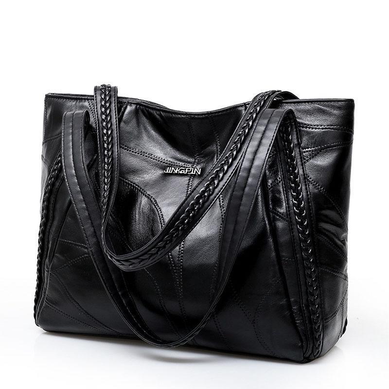 97b5c0e1c93 Top-handle Bags Luxury Handbags Women Bags Designer Fashion Totes For  Ladies Big Leather Handbag Female Hobo Sac Shoulder Bag Y18102204