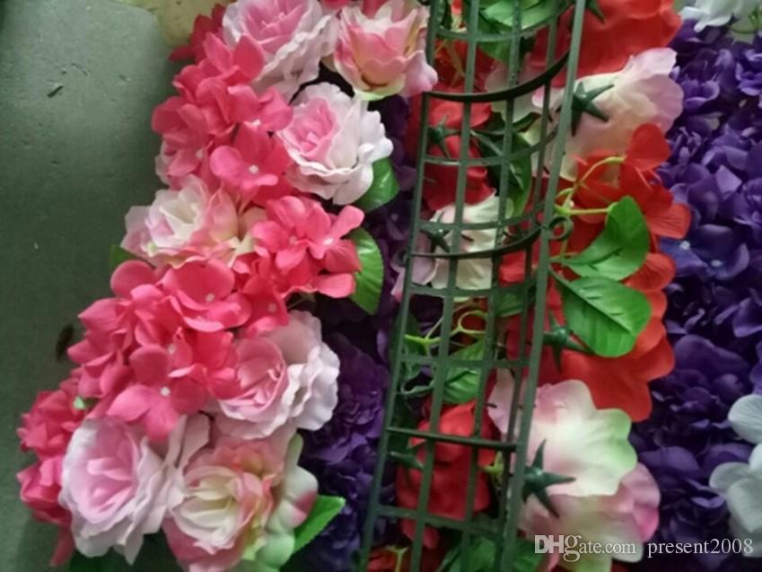 Yapay Kemer Çiçek sıra masa koşucu Centerpieces dize düğün parti için yol gösterdi çiçekler Dekorasyon 10 adet her