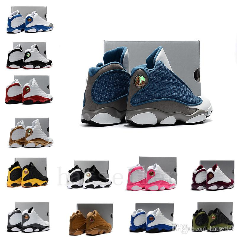 68ab6882ba48f Online Sale Cheap New 13 Kids Basketball Shoes For Boys Girls Sneakers  Children Babies 13s Running Shoe Size 11C 3Y Toddler Athletic Shoes Running  Spikes ...