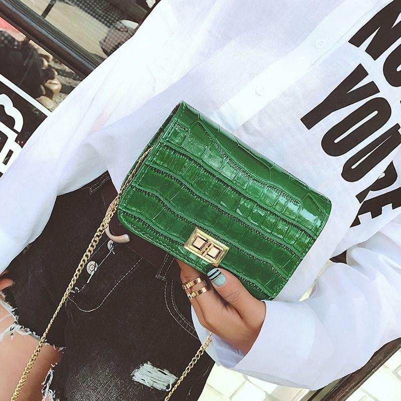 d87bc9c96 Osmond Green Small Hand Bag Crocodile Shoulder Bag For Women Clutches Crossbody  Bags Little Messenger Luxury Chain Handbag Purse Y18102603 Leather Backpack  ...