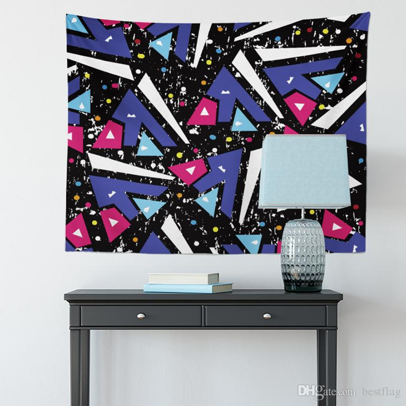 100% Polyester Wholesale Custom Size Sublimation Printed three-dimensional Abstract impression Wall Hanging Tapestry for Home Decoration